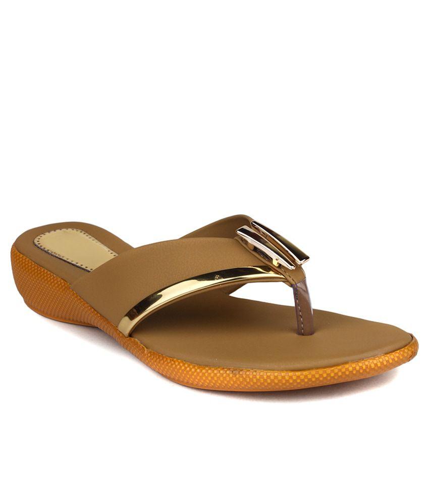 Bonzer Brown Wedges Heels