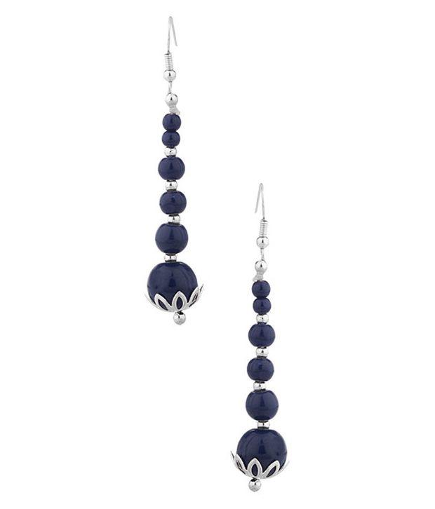 Factorywala Silver Alloy Hanging Earrings