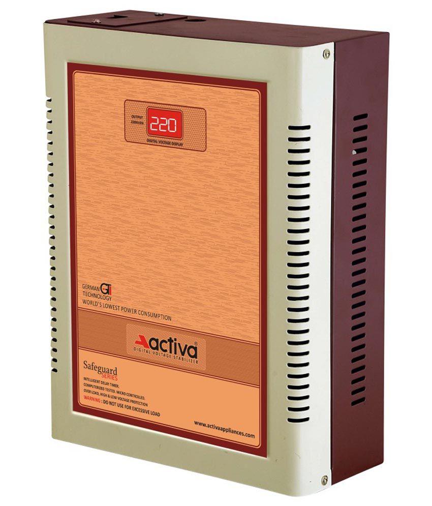 Activa Digital AC Voltage Stabliser 5 Kva /110-290 Volts - Ivory Brown