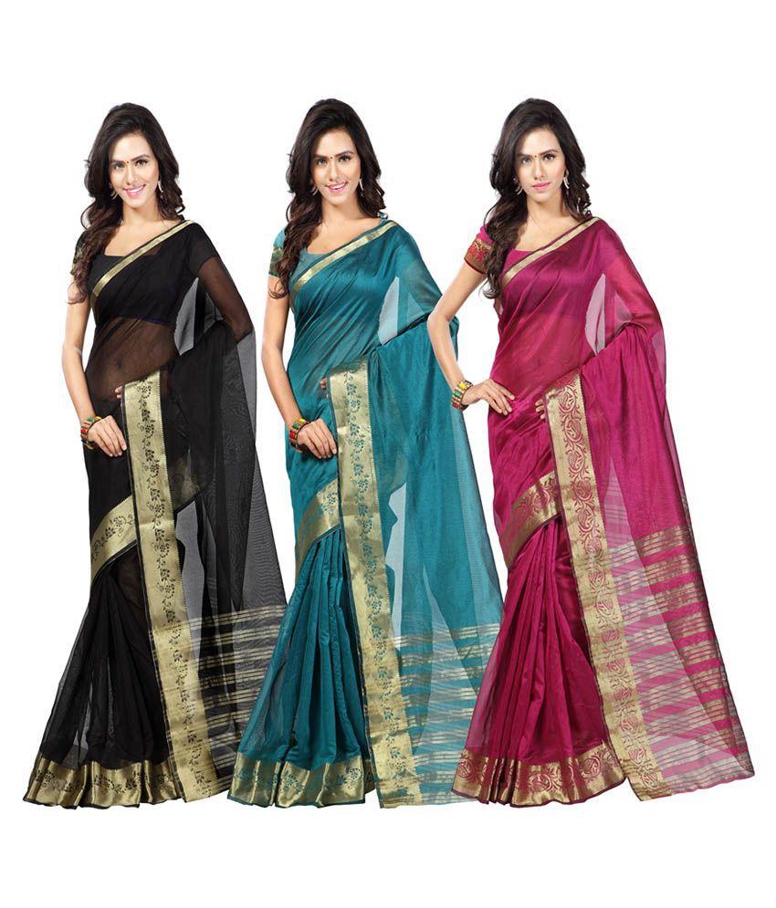 Azara Lifestyle Multicolor Tissue Pack of 3
