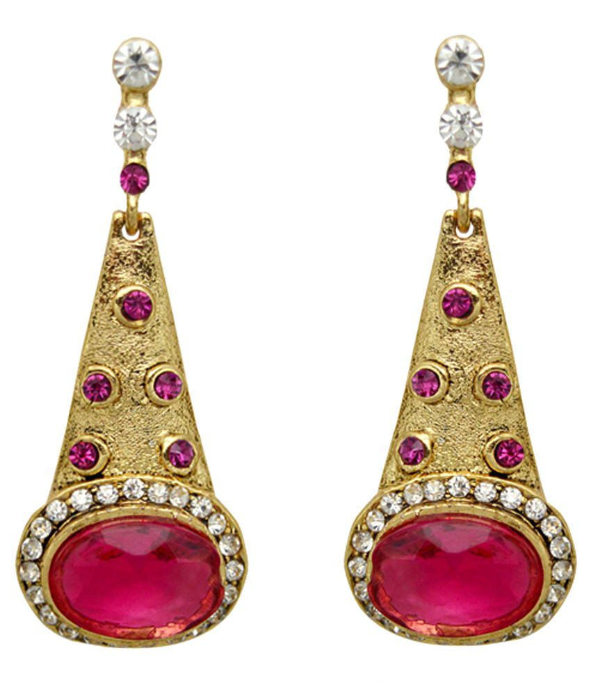 Moshiv Pink Designer Earrings