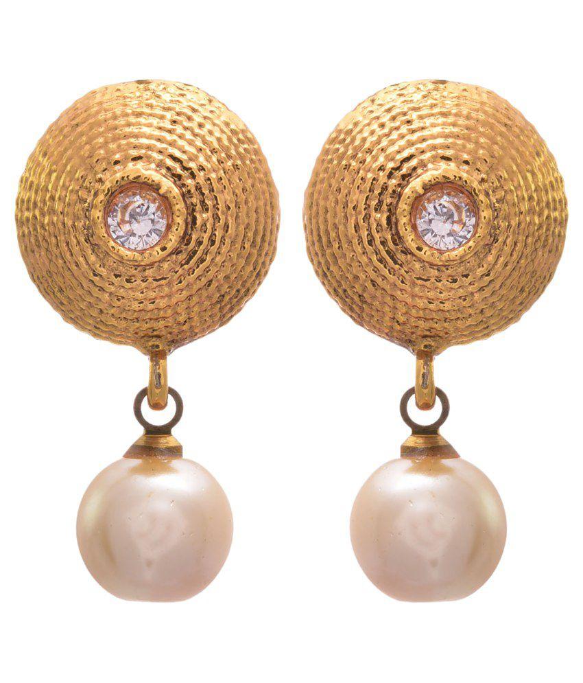 Jfl - Jewellery For Less Golden Copper Drop Earrings