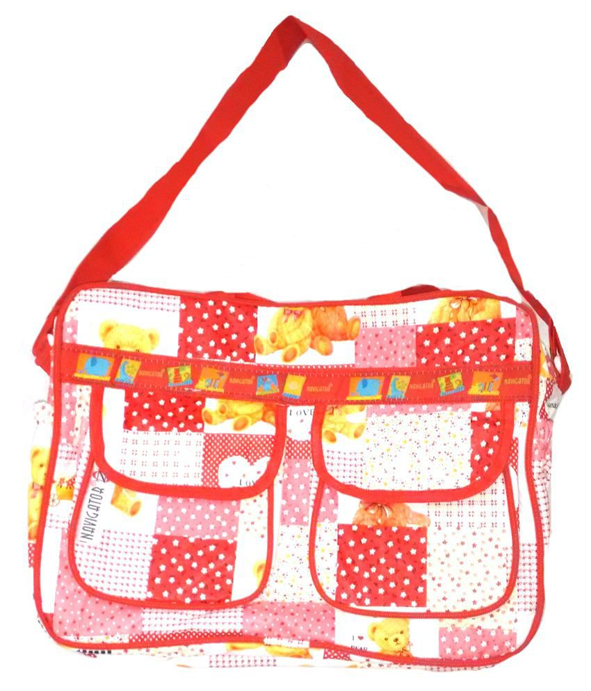 Kidzzy Red and White Diaper Bag