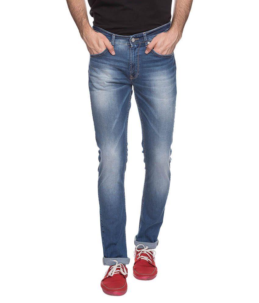 Spykar Blue Slim Fit Jeans No