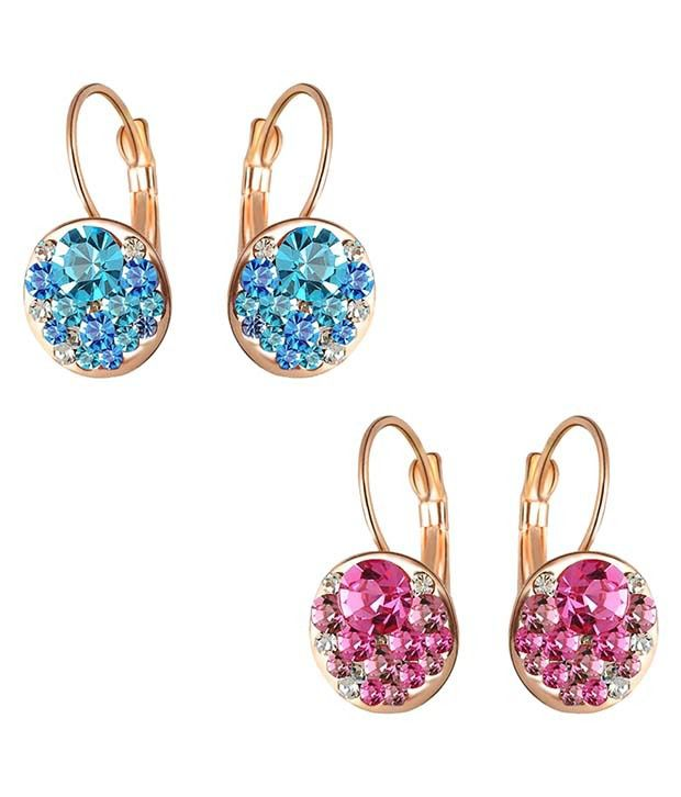 Aaishwarya Multicolor Alloy Stud Earrings - Pack Of 2