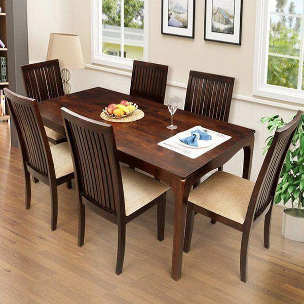 Ethnic handicrafts elmond 6 seater dining set including dining table buy ethnic handicrafts - Dining room table prices ...