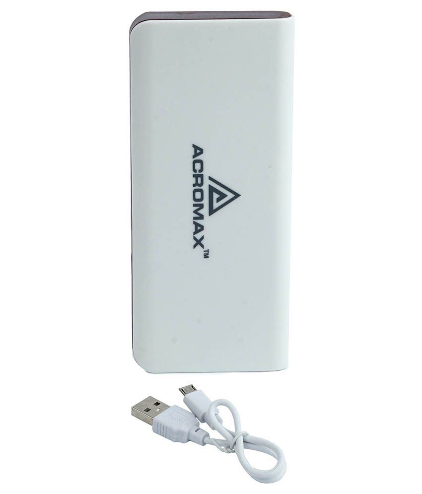 Acromax 13000 mAh Power Bank With Cable For Blackberry 9520 - Brown
