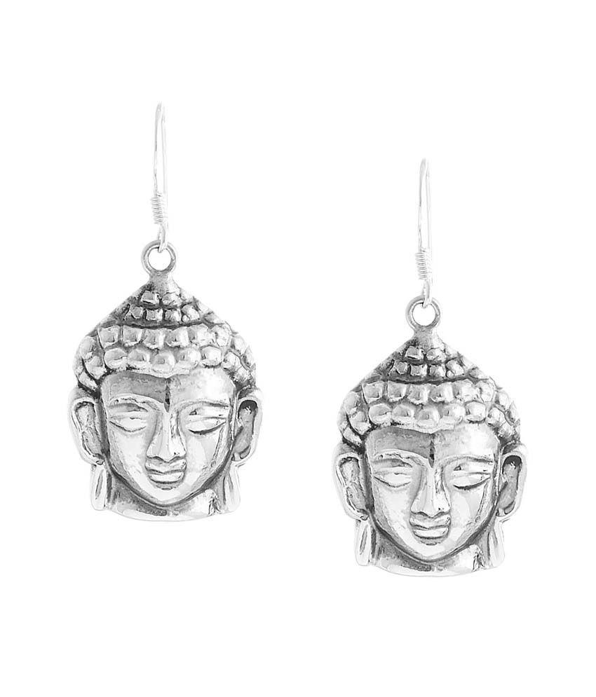Jewels Of Jaipur 92.5 Silver Drop Earings
