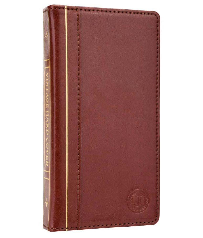 Jo Jo Flip Cover for Karbonn Quattro L50 - Brown
