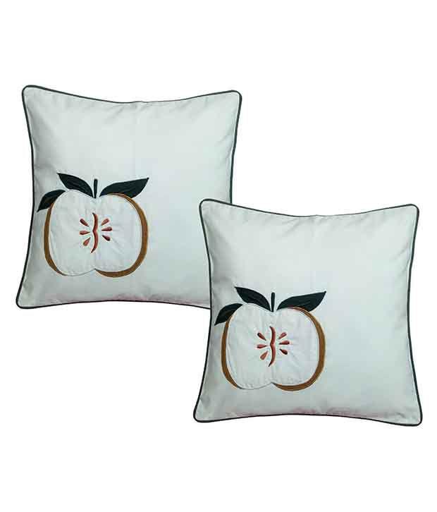 Hugs'n'Rugs Set of 2 Cotton Cushion Covers 40X40 cm (16X16)