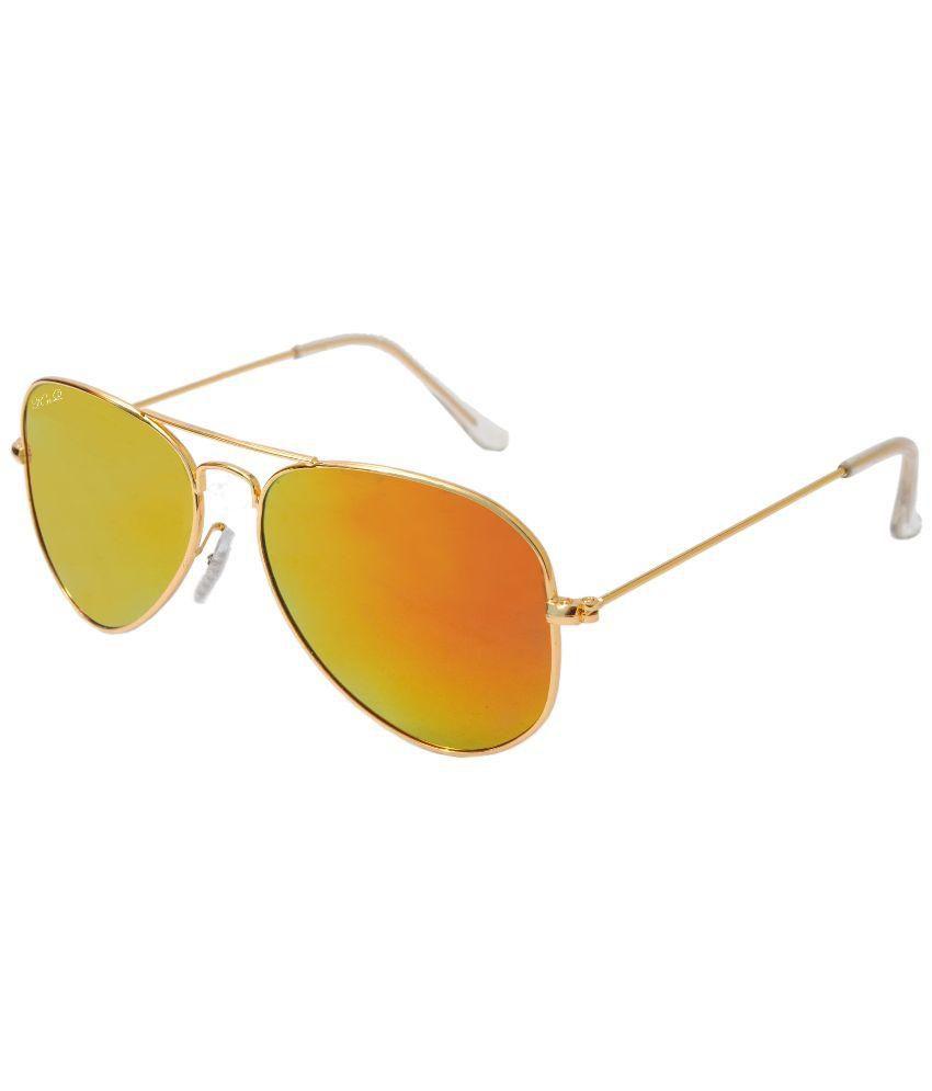 Kings n Queens Copper Aviator Sunglasses