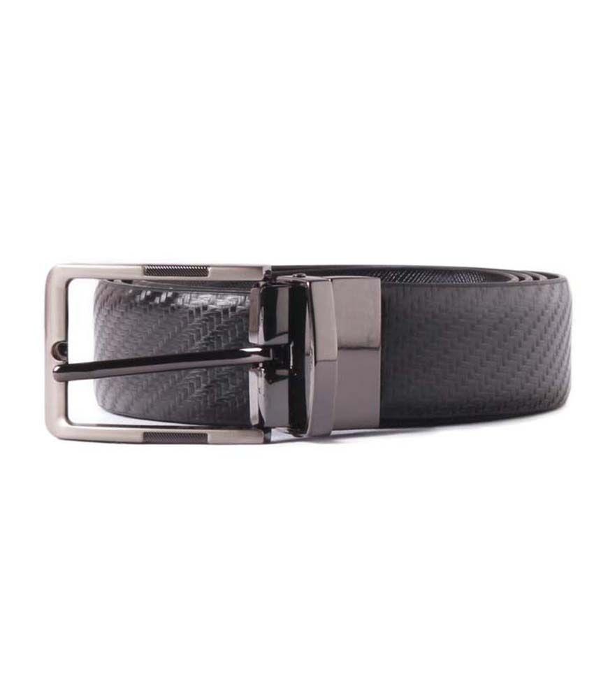 Heaven Deal Black Leather Belt For Men