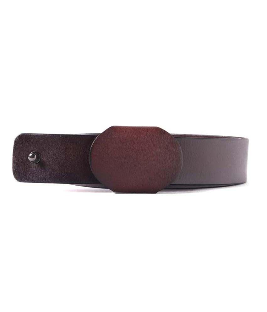 Heaven Deal Khaki Leather Belt For Men