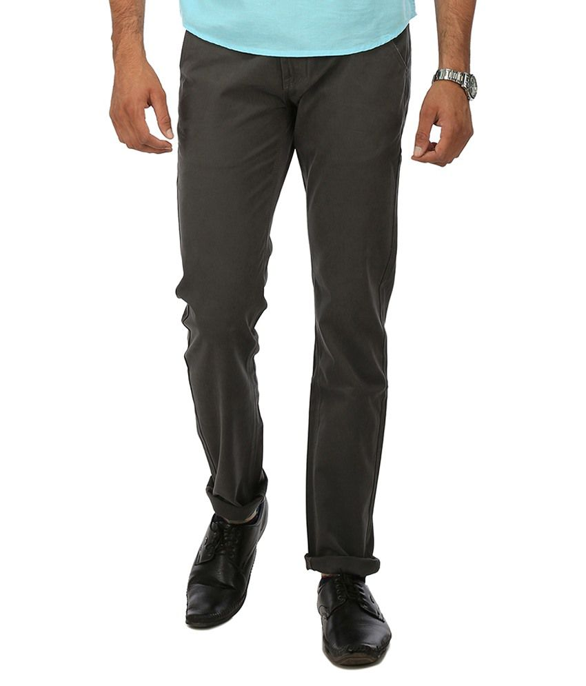 Wear Your Mind Grey Regular Fit Chinos No