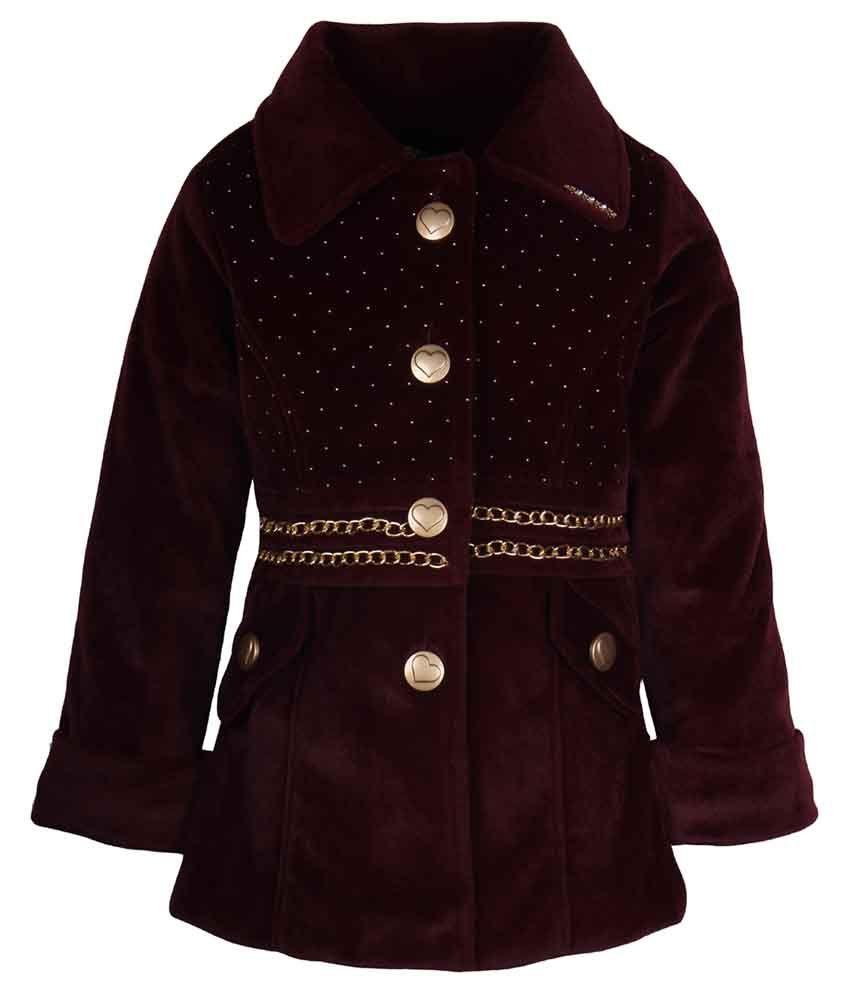 Cutecumber Brown Coat For Girls