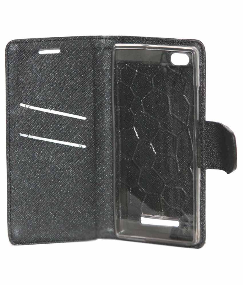 promo code c1706 9c9c0 Gizmofreaks Flip Cover for Lava Iris X10 - Black