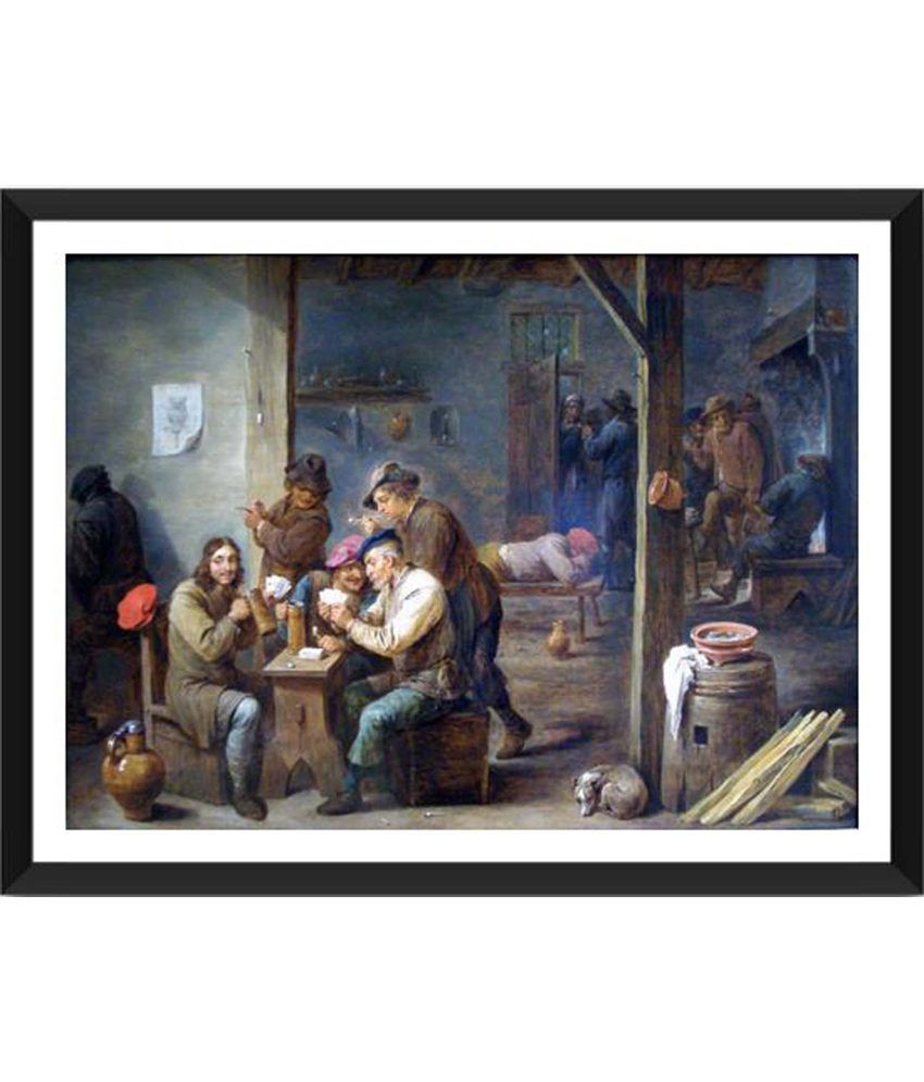 Tallenge Tavern Scene Painting With Acrylic Frame
