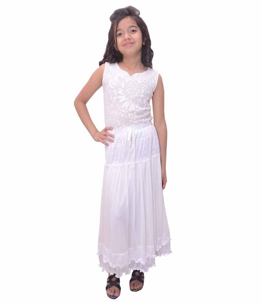 Titrit White Net Skirt