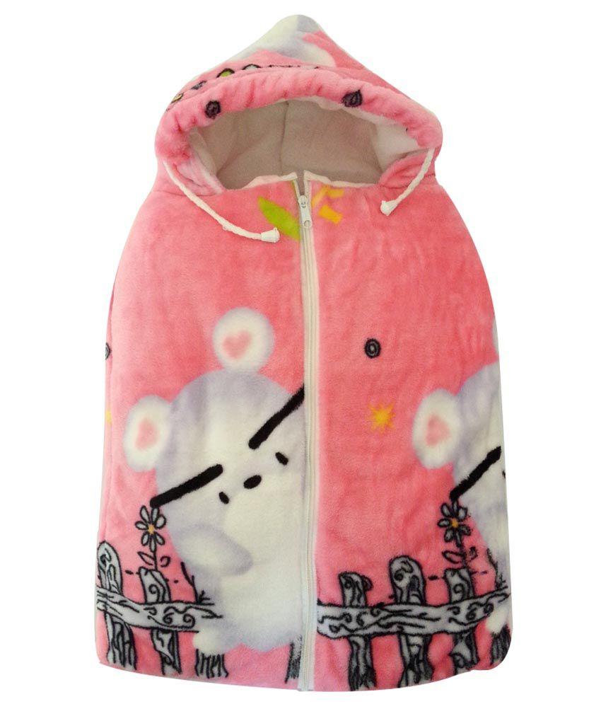 Aaaao Baby Pink Mink Baby Sleeping Bag