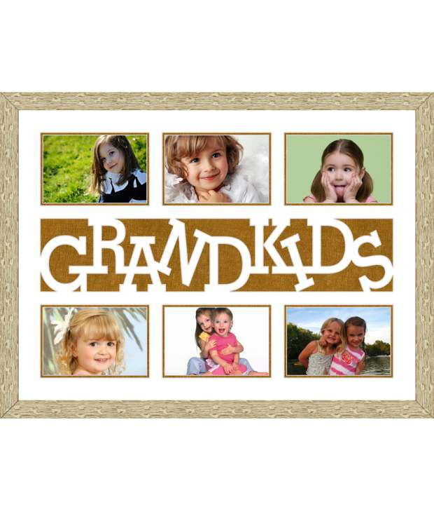 Elegant Arts & Frames Off-White Grandkids Collage Photo Frame: Buy ...