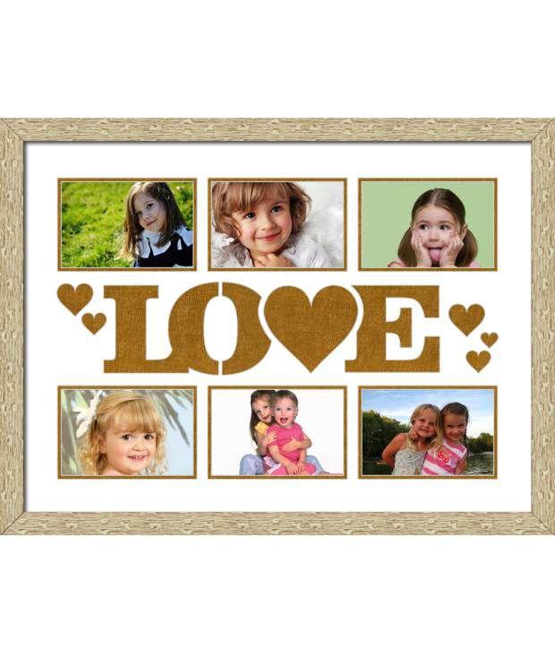 Elegant Arts & Frames Off-White Love Collage Photo Frame: Buy ...