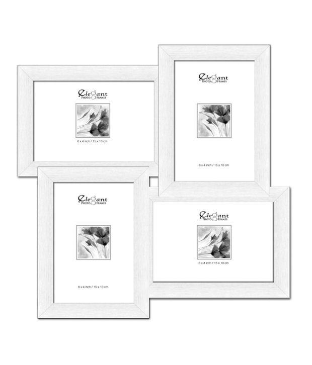 Elegant Arts & Frames White 4-in-1 Collage Photo Frame: Buy Elegant ...