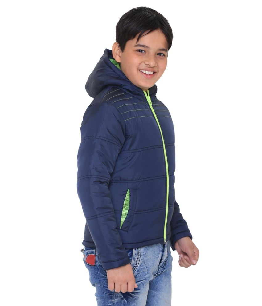 Upto 60% off On Kids Winter Ware By Snapdeal | Kids-17 Navy Polyester Quilted and Bomber @ Rs.856