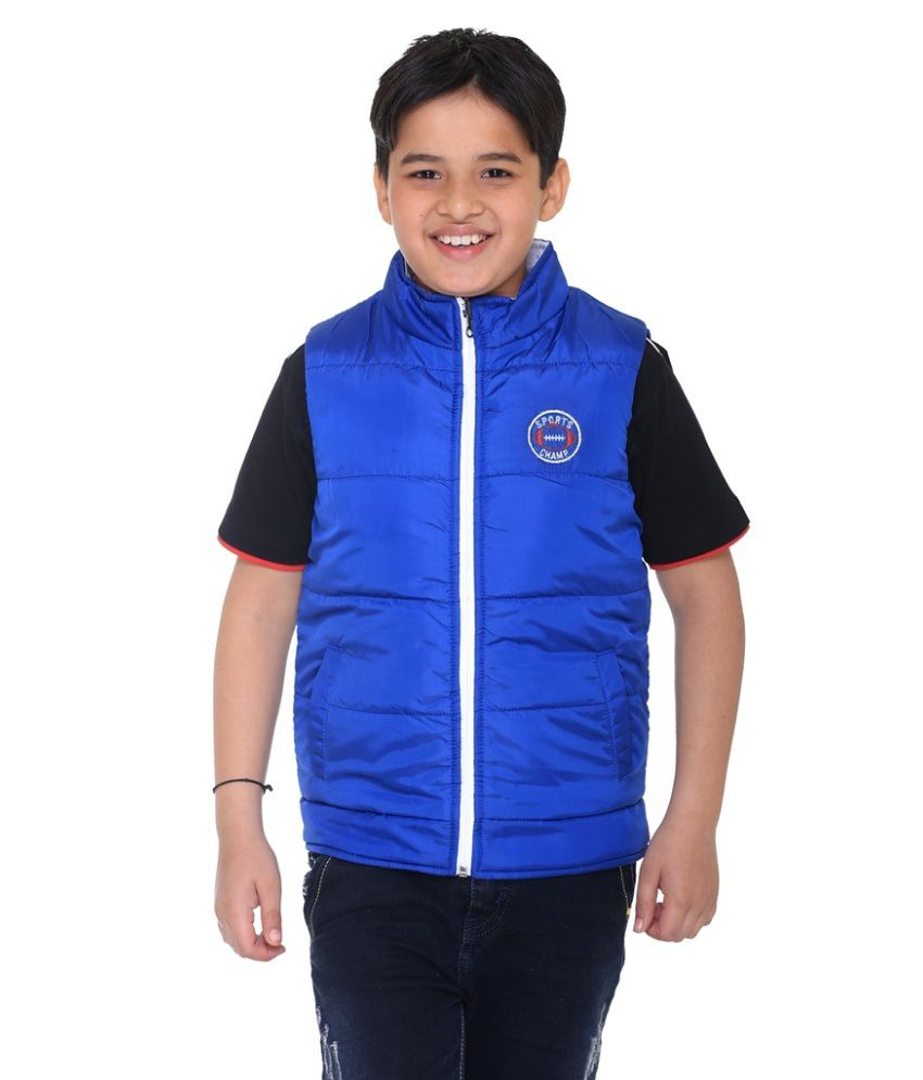 Kids-17 White Polyester Quilted and Bomber