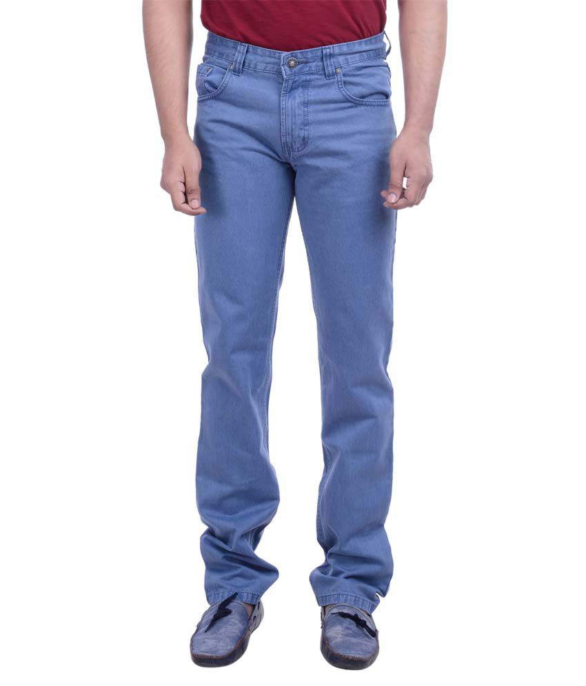 Hoffmen Blue Regular Fit Jeans