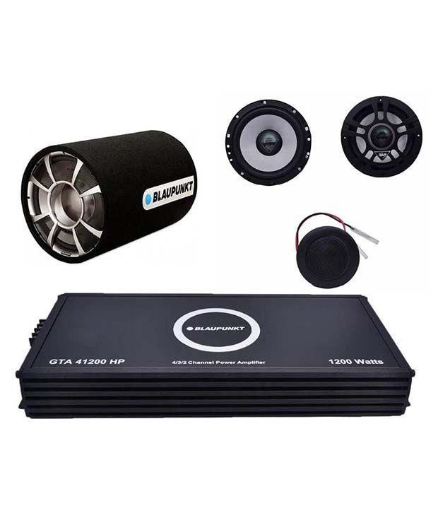 Blaupunkt Combo of GTA 41200 HP Amplifier, GTT 1200 HP Subwoofer and VC 172 Circular Speakers