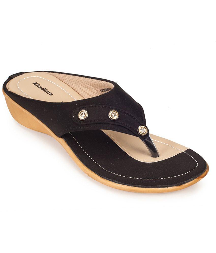 4cd3691e7 Khadim s Black Wedges Heels Price in India- Buy Khadim s Black Wedges Heels  Online at Snapdeal