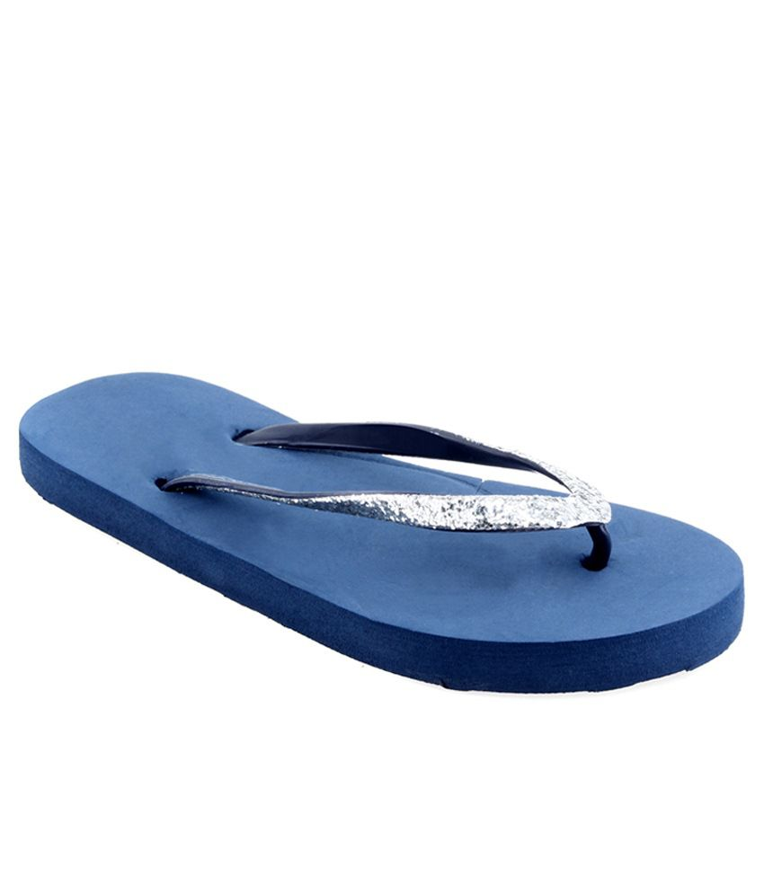 Shoe Lab Blue Slippers & Flip Flops