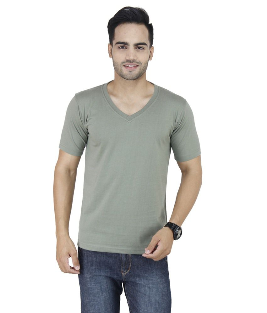 Chakkor Green V-Neck T Shirts