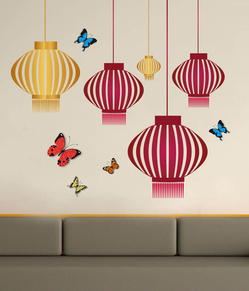 Impression wall hanging design printed vinyl wall sticker for Wall designer online