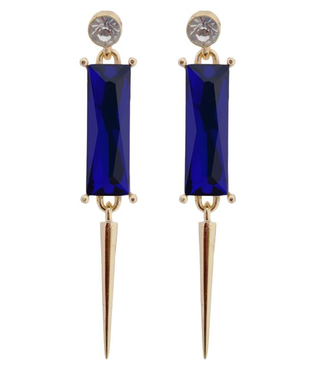 Crunchy Fashion Blue Alloy Designer Earrings