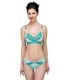 Inner Sense Organic Antimicrobial Laced Bra & Panty Set