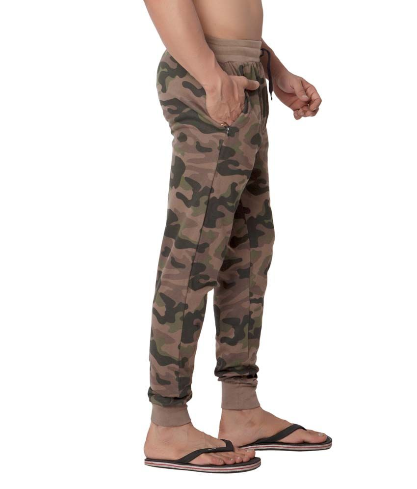 Clifton Fitness Men's Army Track Pant