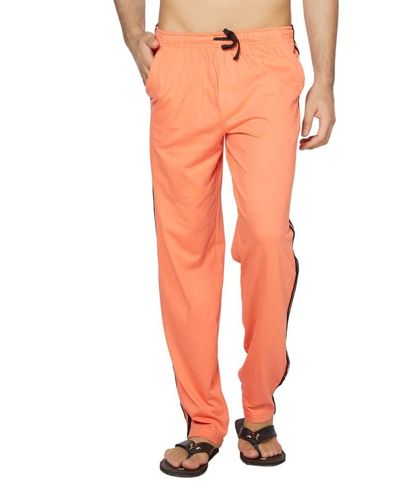 Clifton Fitness Men's Coloured Track Pants -Deep Orange