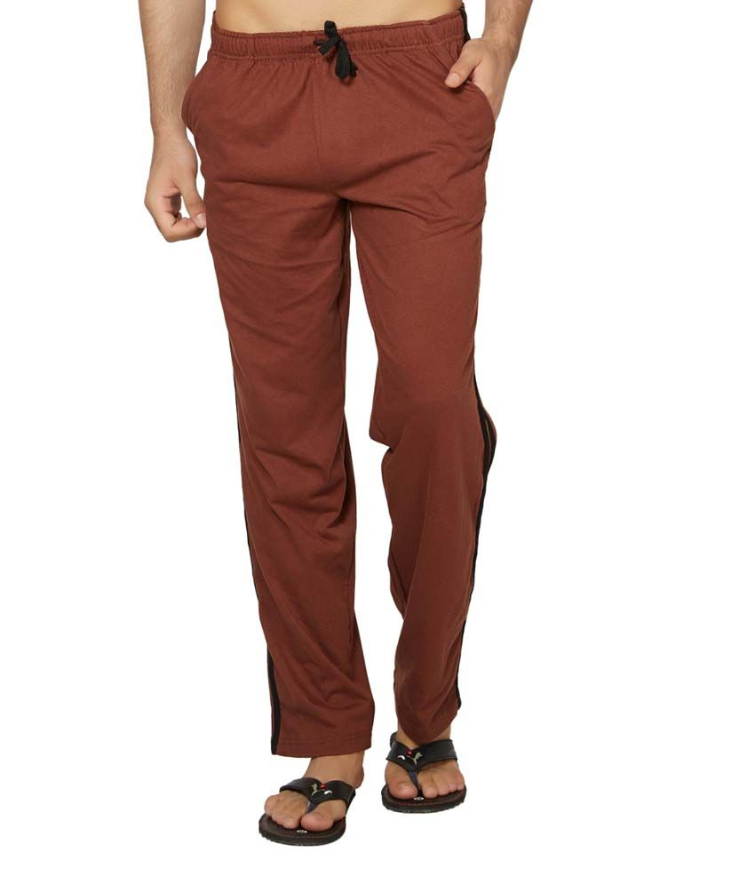 Clifton Fitness Men's Coloured Track Pants -Brown