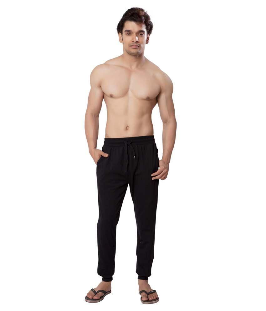 Clifton Fitness Men's Track Pant Slimfit -Black