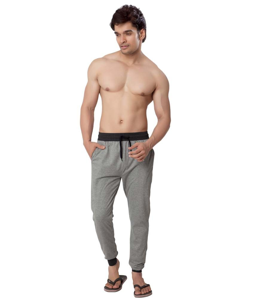 Clifton Fitness Men's Track Pant Slimfit -Grey Melange