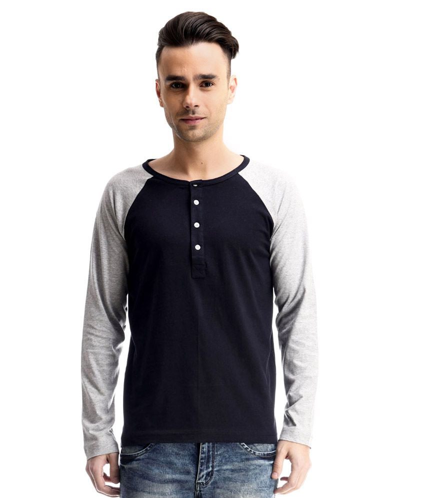 Fabstone Collection Navy Cotton T- Shirt