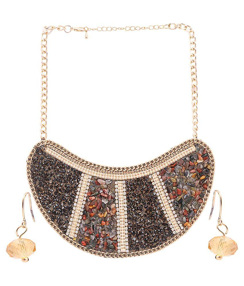 Rizir Fashion Multicolour Alloy Necklace Set