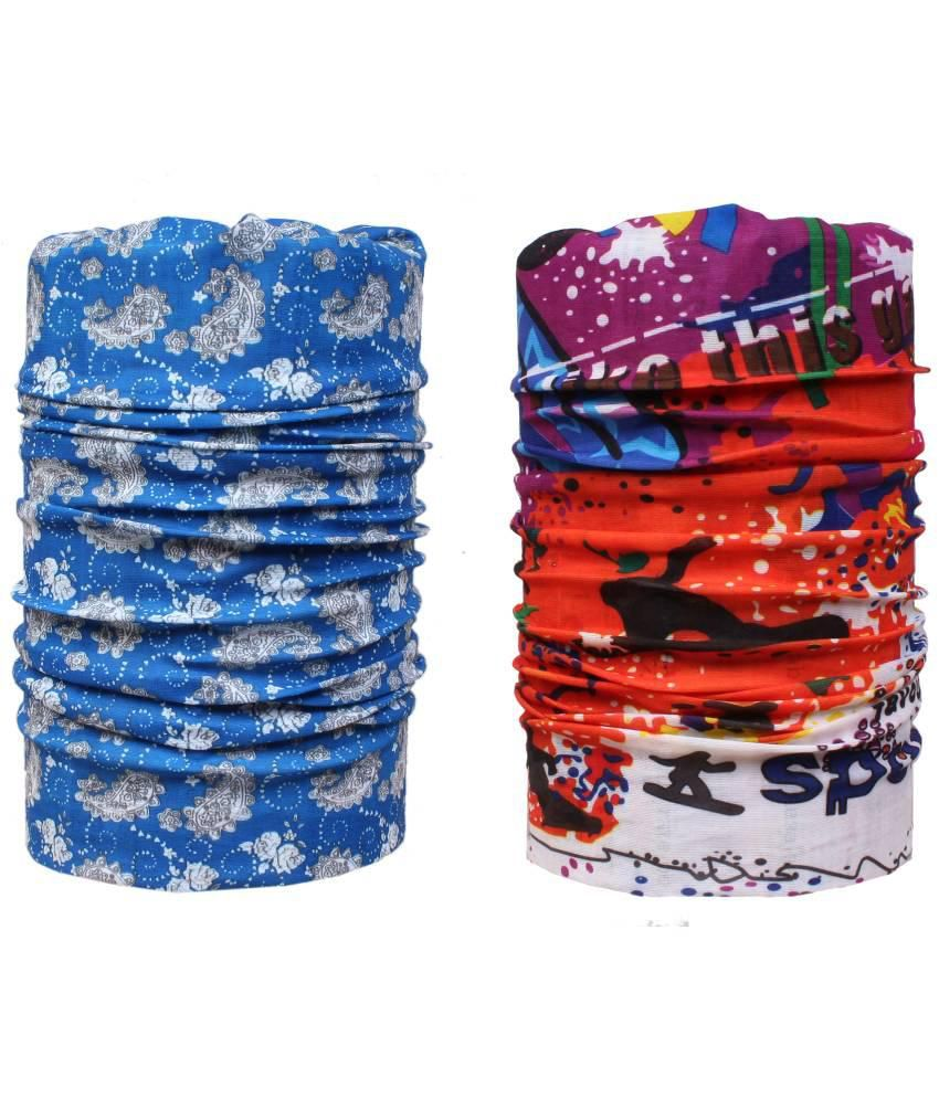 Sushito Multicolour Polyester Bandana For Men - Set Of 2