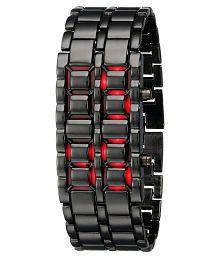 SMC Black metallic LED watch