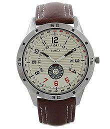 Timex TI000U90000 Brown Leather Analog Watch