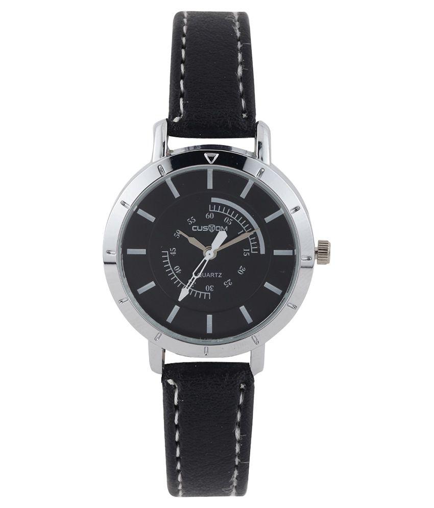 baleno black metal wrist watch