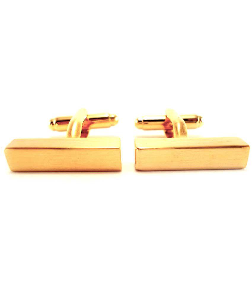 Peluche Golden Metal Sexy Golden Bar Enamel Cufflinks For Men