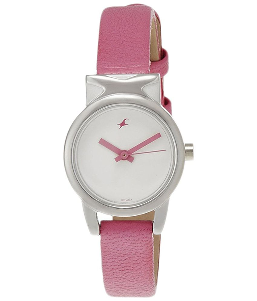 Fastrack pink analog wrist watch for women price in india buy fastrack pink analog wrist watch for Watches for girls