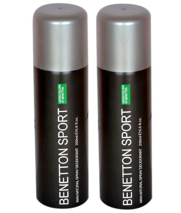 United Colors of Benetton 200 ml Men's Deodorants Pack of 2